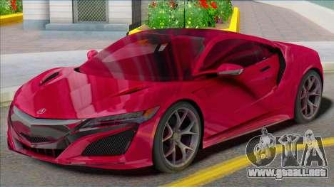 Acura NSX SA para GTA San Andreas