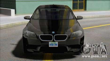 2012 BMW M5 (F10) SA Style para GTA San Andreas