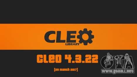 CLEO 4.3.22 para GTA San Andreas