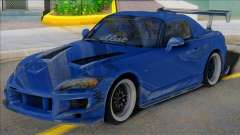 HONDA S2000 Blue with Spoiler