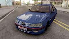 Peugeot Pars Blue para GTA San Andreas