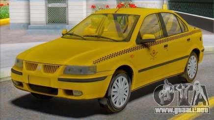 Samand Taxi Car para GTA San Andreas
