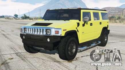 Hummer H2 200ⴝ para GTA 5