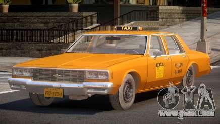 1985 Chevrolet Impala Taxi para GTA 4