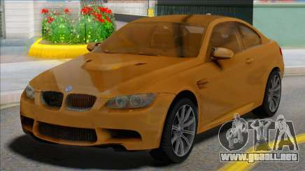 BMW M3 E92 Yellow Coupe para GTA San Andreas