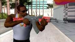 CSGO AK-47 Red Laminate V2 para GTA San Andreas