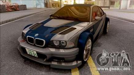 Razor BMW M3 GTR para GTA San Andreas
