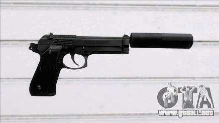 Beretta 92FS Suppressed para GTA San Andreas