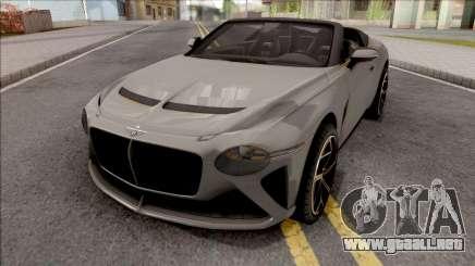 Bentley Mulliner Bacalar 2021 para GTA San Andreas