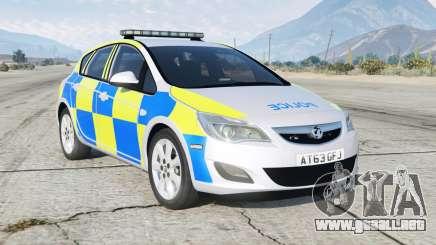 Vauxhall Astra British Police para GTA 5
