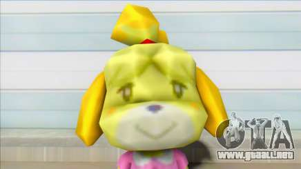 Animal Crossing Isabelle Informal Clothes Skin para GTA San Andreas
