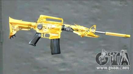 CrossFires M4A1 Iron Beast Noble Gold para GTA San Andreas