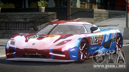 Koenigsegg Agera Racing L7 para GTA 4