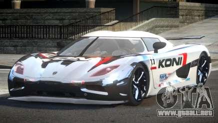 Koenigsegg Agera Racing L1 para GTA 4