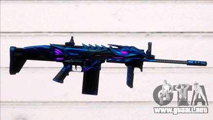 Scar-H Purple Dragon para GTA San Andreas