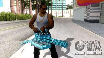 Weapons Pack Blue Evolution (minigun) para GTA San Andreas