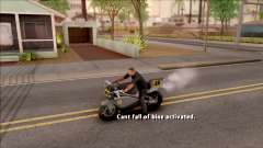 Can Not Fall Off The Bike para GTA San Andreas