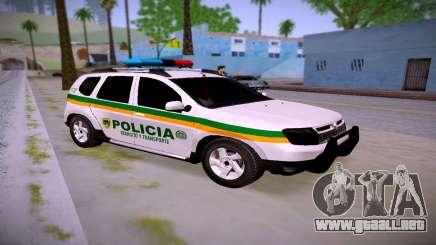 Duster Policía De Transito Colombia para GTA San Andreas