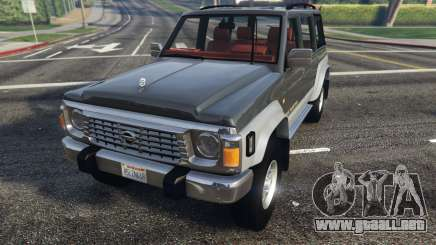 Nissan Patrol Super Safari Y60 1997 para GTA 5