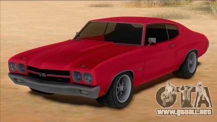 Chevrolet Chevelle SS Red para GTA San Andreas