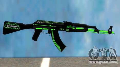 AK47 GREEN LINE para GTA San Andreas
