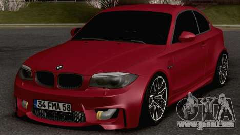 BMW M135i Coupe para GTA San Andreas