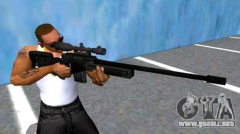 GTA V Sniper Rifle Black para GTA San Andreas