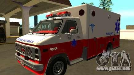 GMC Vandura 1985 Ambulancia para GTA San Andreas