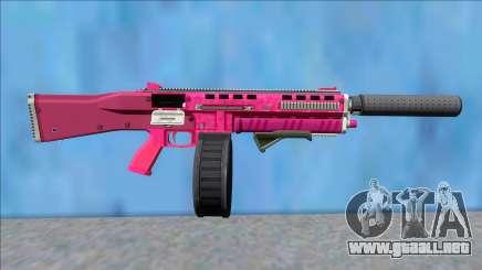 GTA V Vom Feuer Assault Shotgun Pink V3 para GTA San Andreas