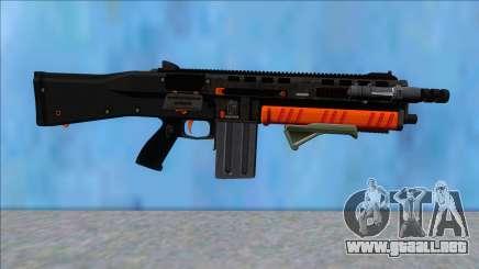 GTA V Vom Feuer Assault Shotgun Orange V6 para GTA San Andreas