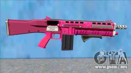 GTA V Vom Feuer Assault Shotgun Pink V10 para GTA San Andreas