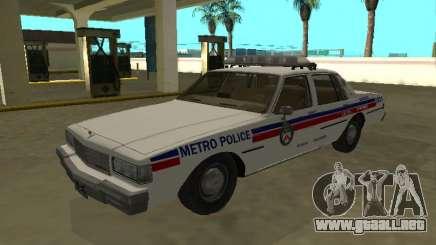 Chevrolet Caprice 1987 Toronto Metro Police para GTA San Andreas