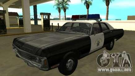 Dodge Polara 1972 Patrulla de Carreteras de California para GTA San Andreas