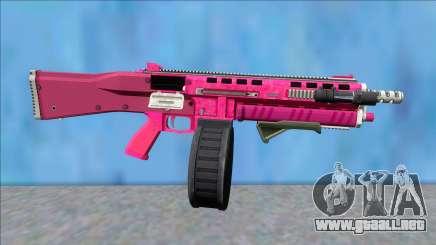 GTA V Vom Feuer Assault Shotgun Pink V5 para GTA San Andreas