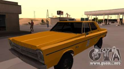 Plymouth Belvedere 4 puertas 1965 Taxi para GTA San Andreas