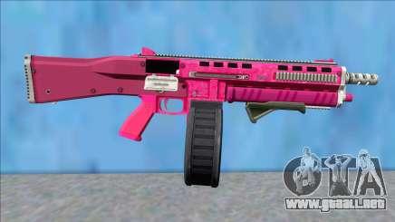 GTA V Vom Feuer Assault Shotgun Pink V9 para GTA San Andreas