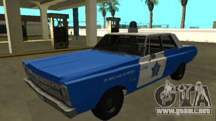Plymouth Belvedere 4 puerta 1965 Chicago Police De para GTA San Andreas