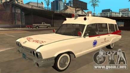 1959 Cadillac Miller-Meteor Ambulancia para GTA San Andreas