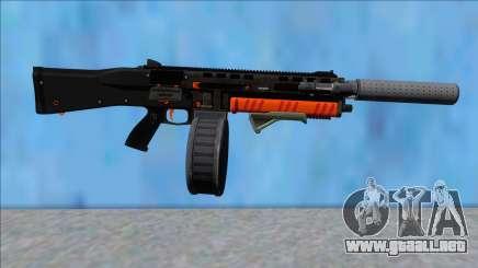 GTA V Vom Feuer Assault Shotgun Orange V13 para GTA San Andreas