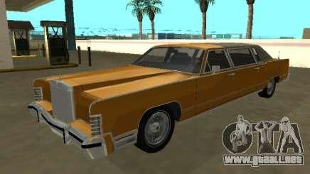Lincoln Continental Town Car 1979 Limo para GTA San Andreas