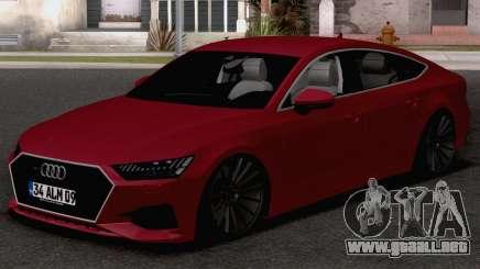 Audi A7 2020 TR Plates para GTA San Andreas