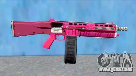 GTA V Vom Feuer Assault Shotgun Pink V14 para GTA San Andreas
