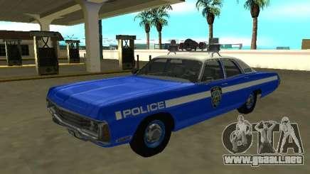 Dodge Polara 1972 Departamento de Policía de Nueva York para GTA San Andreas
