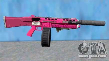 GTA V Vom Feuer Assault Shotgun Pink V13 para GTA San Andreas