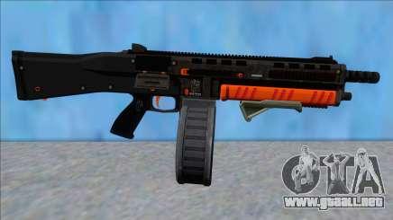 GTA V Vom Feuer Assault Shotgun Orange V9 para GTA San Andreas