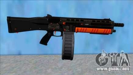 GTA V Vom Feuer Assault Shotgun Orange V14 para GTA San Andreas