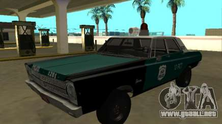Plymouth Belvedere 4 puerta 1965 Old NYPD para GTA San Andreas