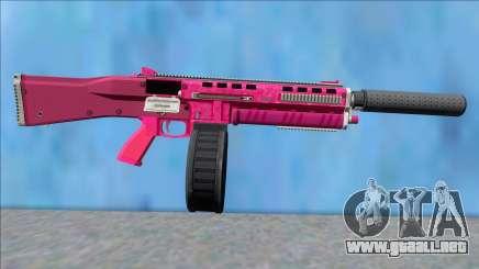 GTA V Vom Feuer Assault Shotgun Pink V7 para GTA San Andreas