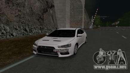 Mitsubishi Lancer 152 RUS Plates para GTA San Andreas