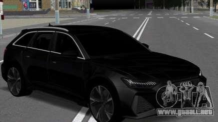Audi RS6 Avant Black para GTA San Andreas